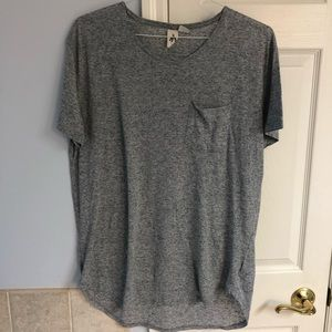 Urban Outfitters scoop neck long hem tee.